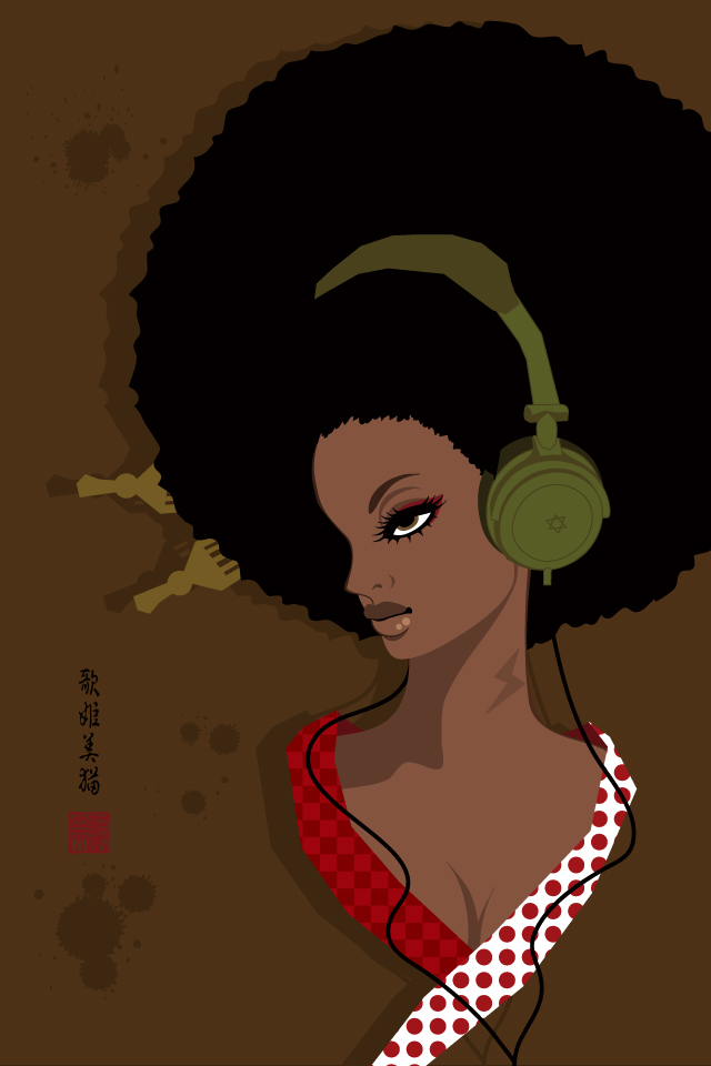 Wallpaper / 640×960【AFRO GiRL】