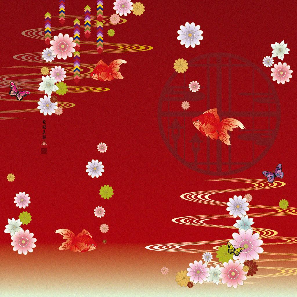 Wallpaper / goldfish 1024x1024 (c)bAbycAt