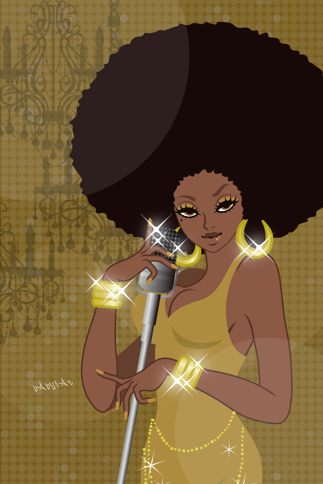 Wallpaper / 640×960【AFRO SINGER】
