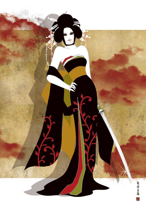 illustration / New Kimono Style