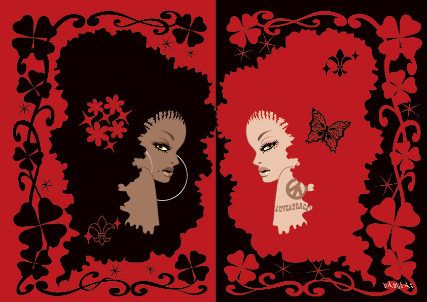 Black and Red / Illustration bAbycAt