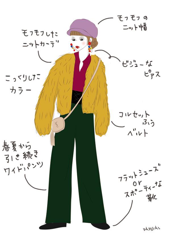 2017秋冬ファッション / Illustration by bAbycAt