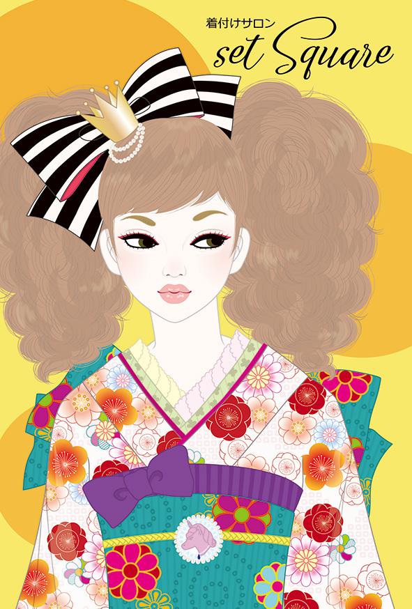 着付けサロン セットスクウェア / Illustration by bAbycAt